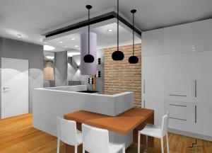 salon z aneksem kuchennym styl industrialny